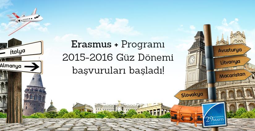 Erasmus+ Programı 2015-2016 Güz Dönemi Öğrenci Hareketliliği
