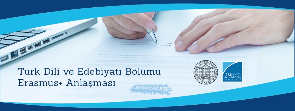 Türk Dili ve Edebiyatı Bölümü Erasmus+ Anlaşması