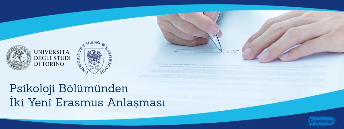 Psikoloji Bölümü'nden İki Erasmus Anlaşması